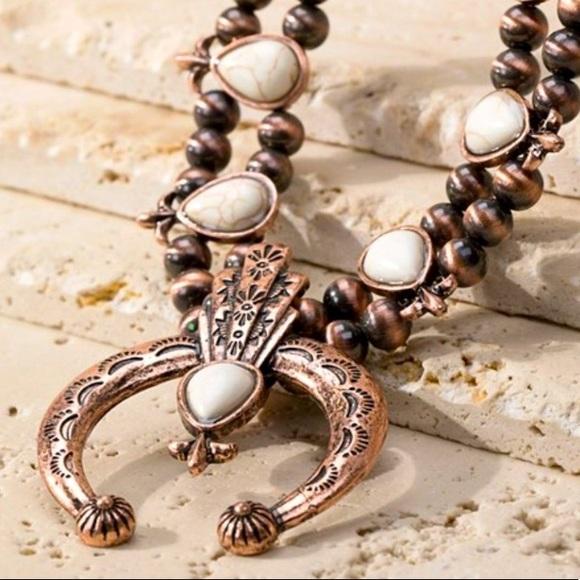 Bronze & Navajo Pearl Squash Bottom Necklace
